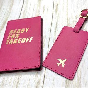Eccolo luggage tag passport cover set. New in box